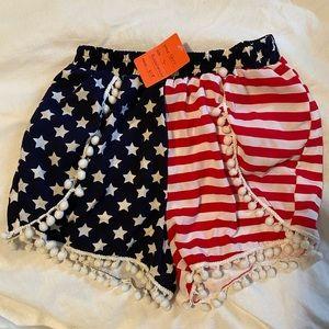 Patriotic Pom shorts